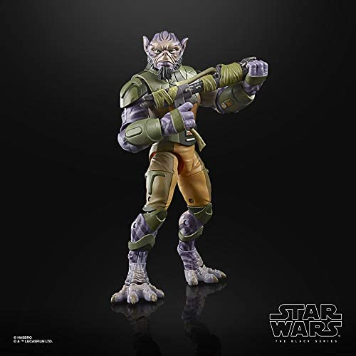 """41PNnz6EEbL. AC  - Star Wars The Black Series Garazeb """"Zeb"""" Orrelios Toy 6-Inch-Scale Star Wars Rebels Collectible Deluxe Action Figure, Kids Ages 4 and Up"""