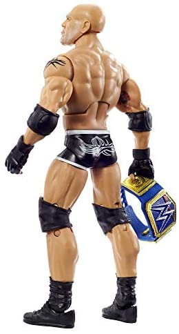 41X LzHA0DL. AC  - WWE Wrestlemania 37 Elite Collection Goldberg Action Figure with Universal Championship and Paul Ellering and Rocco BuildAFigure Pieces6 in Posable Collectible Gift Fans