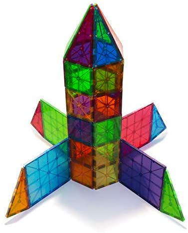 41ZLOdRl6uL. AC  - Magna-Tiles 100-Piece Clear Colors Set, The Original Magnetic Building Tiles For Creative Open-Ended Play, Educational Toys For Children Ages 3 Years +