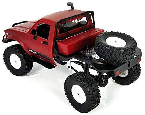 41dH87chHaL. AC  - YIKESHU Rc Truck Remote Control Off-Road Racing Vehicles 1:16 2.4G 2CH 4WD Off-Road Kids RC Toy Climb Semi Truck RTR Trailer The LED Lights (Red)