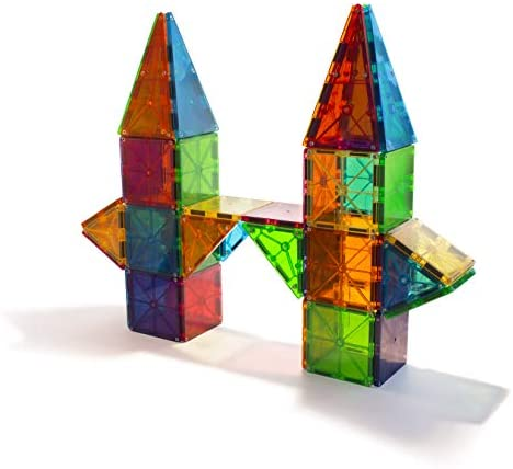41db8G4wiEL. AC  - Magna-Tiles 100-Piece Clear Colors Set, The Original Magnetic Building Tiles For Creative Open-Ended Play, Educational Toys For Children Ages 3 Years +