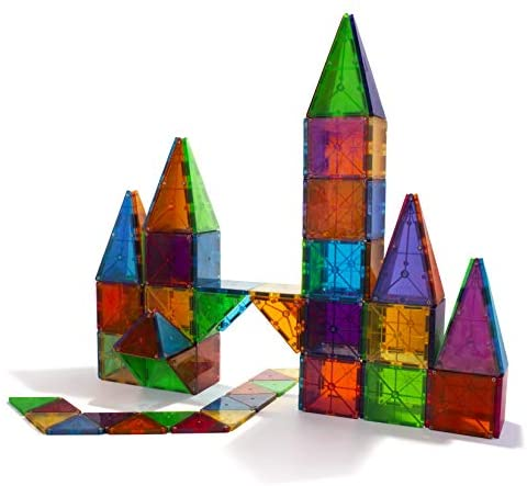 41dheNQX30L. AC  - Magna-Tiles 100-Piece Clear Colors Set, The Original Magnetic Building Tiles For Creative Open-Ended Play, Educational Toys For Children Ages 3 Years +