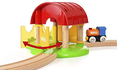 41eSjj10FzL. AC  - Brio World - 33826 My First Farm   12 Piece Wooden Toy Train Set for Kids Ages 18 Months and Up