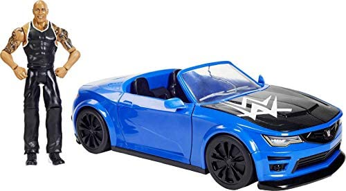 41f0nf8JbjL. AC  - WWE Wrekkin' Slam-Mobile Vehicle (13-in) with Rolling Wheels and 8 Breakable Parts & 6-in The Rock Basic Action Figure, Gift for Ages 6 Years Old and Up [Amazon exclusive]
