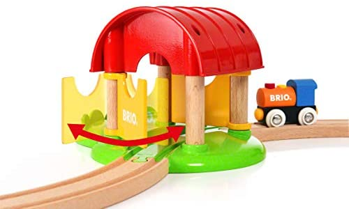 41fWV4PVLEL. AC  - Brio World - 33826 My First Farm   12 Piece Wooden Toy Train Set for Kids Ages 18 Months and Up