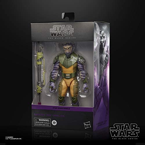 """41geqXRXuoL. AC  - Star Wars The Black Series Garazeb """"Zeb"""" Orrelios Toy 6-Inch-Scale Star Wars Rebels Collectible Deluxe Action Figure, Kids Ages 4 and Up"""
