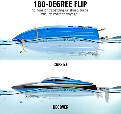 41icwDIpXNL. AC  - DeXop Remote Control Boat Rc Boat with High Speed Radio Remote Control Electric Racing Boat for Children, Adults, Works in the bathtub at home(H100)