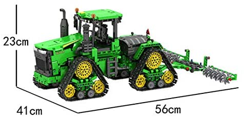 41rLgHNJ+KL. AC  - PHYNEDI 1:18 Simulation 2.4G Electric RC Track Tractors Vehicle Model Bricks Set Compatible with Lego, MOC DIY Assembly Small Particle Building Block Construction Toy Kit (1,706 Pieces)