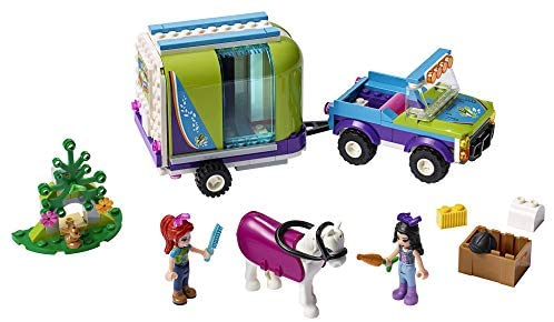 41s4izHmg6L. AC  - LEGO Friends Mia's Horse Trailer 41371 Building Kit with Mia and Emma Mini Dolls Includes Toy Truck, Horse, and Rabbit for Creative Play (216 Pieces)