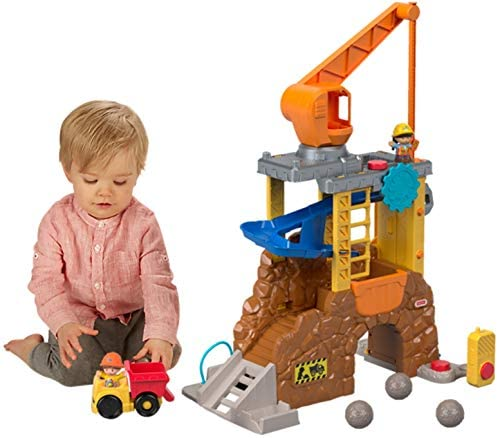41uvqn7X2nL. AC  - Fisher-Price Little People Work Together Construction Site Playset