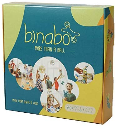 41waSFvQiOL. AC  - Binabo Construction Toy - Open-Ended, Easy Connections, Create Anything! - Made from 100% Renewable Resources (240 Pieces)