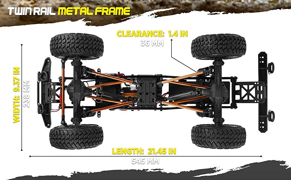 4aad5bfb a243 47af a8d0 ecf94aed6389.  CR0,0,3880,2400 PT0 SX970 V1    - 1:10 Scale Large RC Rock Crawler - 4WD Off Road RC Cars - Remote Control Car 4x4 Electric Truck - IPX5 Waterproof Trucks for Adults - RTR with 5Ch Remote, Battery and Charger