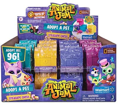 51+v+9XDCPL. AC  - Animal Jam Adopt a Pet Treasure Chest Sealed Mystery Box of 24 Chests Game Code