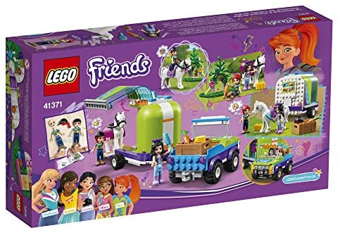 51 WbbQzIhL. AC  - LEGO Friends Mia's Horse Trailer 41371 Building Kit with Mia and Emma Mini Dolls Includes Toy Truck, Horse, and Rabbit for Creative Play (216 Pieces)