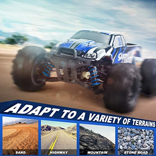 5103Udrnz0L. AC  - VCANNY Remote Control Car, Terrain RC Cars, Electric Remote Control Off Road Monster Truck, 1: 18 Scale 2.4Ghz Radio 4WD Fast 30+ mph RC Car, with 2 Rechargeable Batteries
