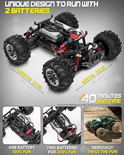 51064cW9liL. AC  - 1:20 Scale RC Cars 30+ kmh High Speed - Boys Remote Control Car 4x4 Off Road Monster Truck Electric - 4WD All Terrain Waterproof Toys Trucks for Kids and Adults - 2 Batteries for 40+ Min Play Time