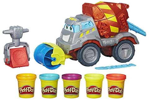 510L5yjHuZL. AC  - Play-Doh Buzzsaw Logging Truck Toy with 4 Non-Toxic Colors, 3-Ounce Cans