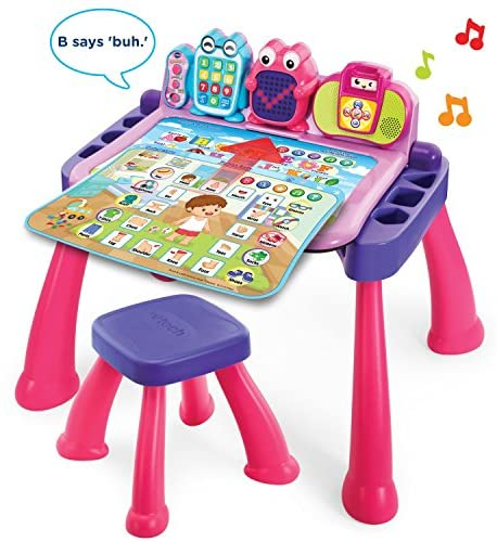 511pgW1UoLL. AC  - VTech Touch and Learn Activity Desk Deluxe, Pink