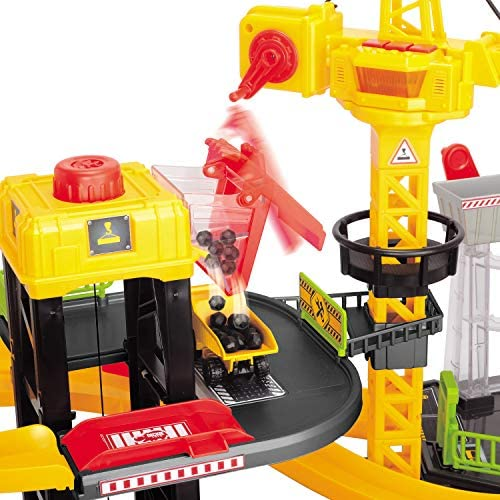512LETsMR0L. AC  - Dickie Toys - Construction Playset With 4 Die-Cast Cars