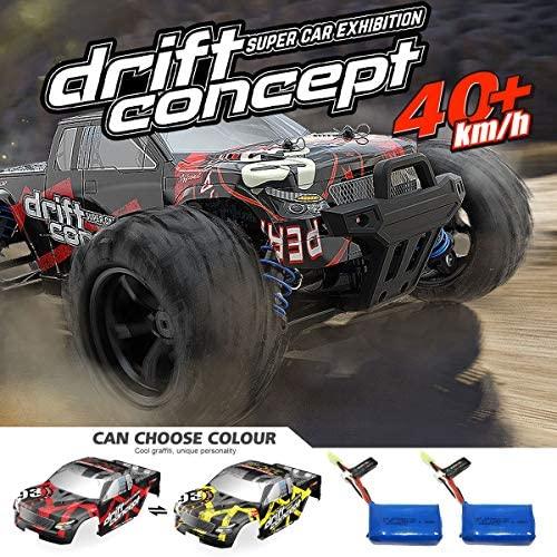 512WDsWqd4L. AC  - SZJJX RC Cars 40+ KM/H High Speed Remote Control Car 4WD RC Monster Truck for Adults, All Terrain Off Road Toy Truck with Extra Shell 2 Batteries, 40+ Min Play Car Gifts for Kids