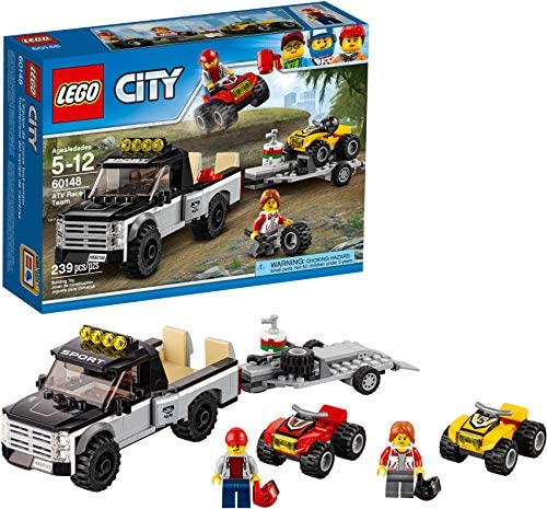 513MsvFUiBL. AC  - LEGO City ATV Race Team 60148 Building Kit with Toy Truck and Race Car Toys (239 Pieces) (Discontinued by Manufacturer)