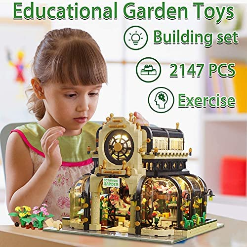 513R5XWR+bS. AC  - Garden Tree House Set with Lighting Kit, City Creator Building Bricks Blocks for Teens and Adults, Architecture Educational Construction Toy Teen Boy Gifts Compatible with Lego (2147 Pieces)