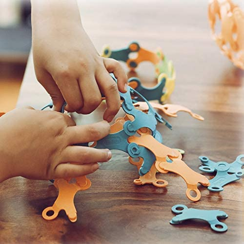 5146mOi+H0L. AC  - Binabo Construction Toy - Open-Ended, Easy Connections, Create Anything! - Made from 100% Renewable Resources (240 Pieces)