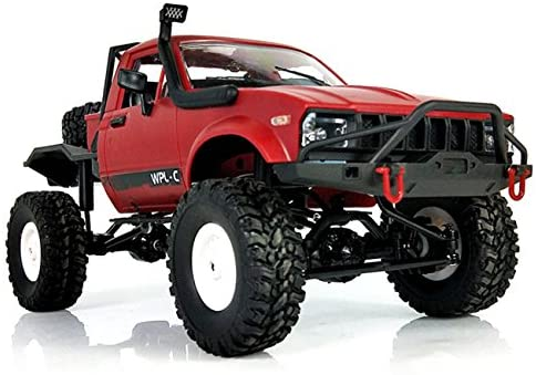 514AMPLHvBL. AC  - YIKESHU Rc Truck Remote Control Off-Road Racing Vehicles 1:16 2.4G 2CH 4WD Off-Road Kids RC Toy Climb Semi Truck RTR Trailer The LED Lights (Red)