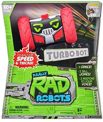 5156t2H3epL. AC  - Really RAD Robots - Electronic Remote Control Robot with Voice Command - Built for Speed and Tricks - Turbo Bot