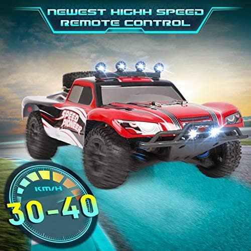 515Lt3isLjL. AC  - RC Cars, 1/18 Scale High-Speed Remote Control Car for Adults Kids, 40+ kmh 4WD 2.4GHz Off-Road Monster RC Truck, All Terrain Electric Vehicle Toy Boy Gift with 2 Batteries for 40+ Min Play