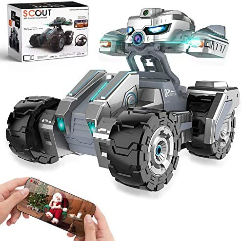 516BO1mi9KL. AC  - RC Cars, Remote Control Car with 720P HD Camera, 4WD WiFi FPV High Speed Gravity Sensor with Lights, AR Mode Electric RC Trucks 1:18 Versus Mode Car with Rechargeable Battery for Kids and Adults