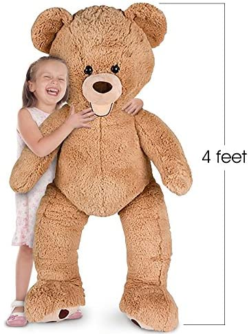517cfeupj7L. AC  - ArtCreativity 4 Feet Giant Teddy Bear - Extra Plush and Soft Toy - Jumbo Large Stuffed Animal for Kids and Adults - Huge Plush Bear - Great Gift Idea for Boys and Girls - Gigantic Carnival Prize