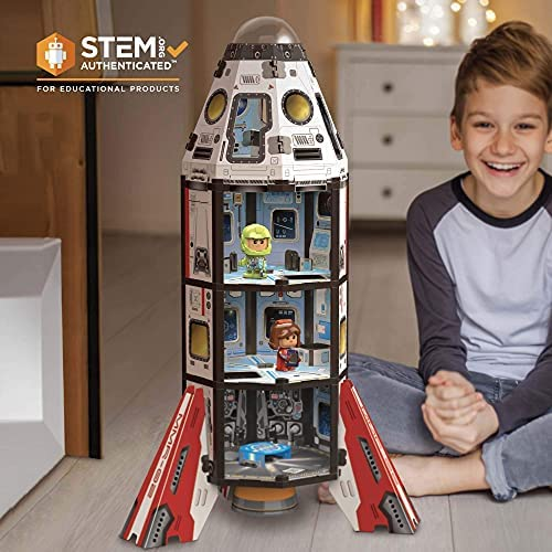518UAQqdv3S. AC  - GUJO Adventure Mars Mission Rocket, Kids STEM Building Toys Set (2.5 ft. Tall) Space Toy Rocket Ship - STEM Learning Toy for Boys & Girls Ages 7-11+ Great Gift for Kids (240+ Pieces)
