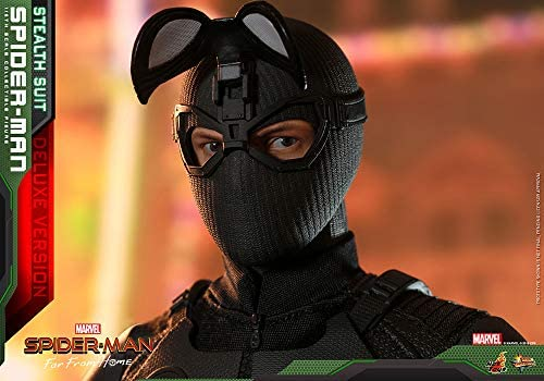 519ReZ4hivL. AC  - Hot Toys Movie Masterpiece 1/6 Scale Action Figure Spider-Man (Stealth Suit) MMS541 Far from Home Deluxe Version Tom Holland