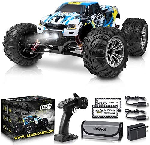 519UtOTCGDL. AC  - 1:10 Scale Large RC Cars 48+ kmh Speed - Boys Remote Control Car 4x4 Off Road Monster Truck Electric - All Terrain Waterproof Toys Trucks for Kids and Adults - 2 Batteries + Connector for 40+ Min Play