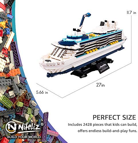 519qEUtEAbL. AC  - Nifeliz Cruise Liner Model, Toy Boat Building Blocks Kits and Engineering Toy, Construction Set to Build, Model Set and Assembly Toy for Teens(2428 Pcs)