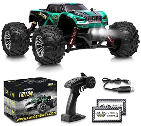 51AtqkK4EEL. AC  - 1:20 Scale RC Cars 30+ kmh High Speed - Boys Remote Control Car 4x4 Off Road Monster Truck Electric - 4WD All Terrain Waterproof Toys Trucks for Kids and Adults - 2 Batteries for 40+ Min Play Time