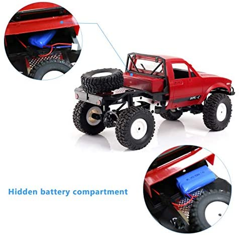 51Aw iQkz5L. AC  - YIKESHU Rc Truck Remote Control Off-Road Racing Vehicles 1:16 2.4G 2CH 4WD Off-Road Kids RC Toy Climb Semi Truck RTR Trailer The LED Lights (Red)