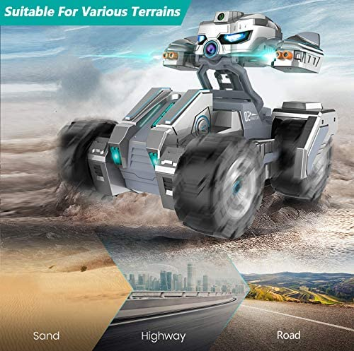 51BBRm+HJqL. AC  - RC Cars, Remote Control Car with 720P HD Camera, 4WD WiFi FPV High Speed Gravity Sensor with Lights, AR Mode Electric RC Trucks 1:18 Versus Mode Car with Rechargeable Battery for Kids and Adults