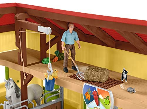 51BDJVpeeSL. AC  - Schleich Farm World, 30-Piece Playset, Farm Toys and Farm Animals for Kids Ages 3-8, Horse Stable