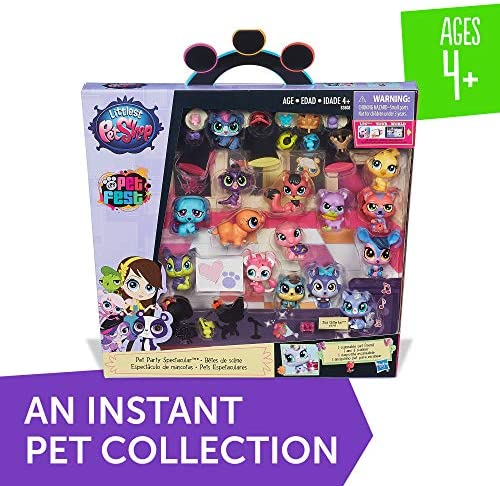 51C+jfJRE6L. AC  - Littlest Pet Shop Pet Party Spectacular Collector Pack Toy, Includes 15 Pets, Ages 4 and Up(Amazon Exclusive)