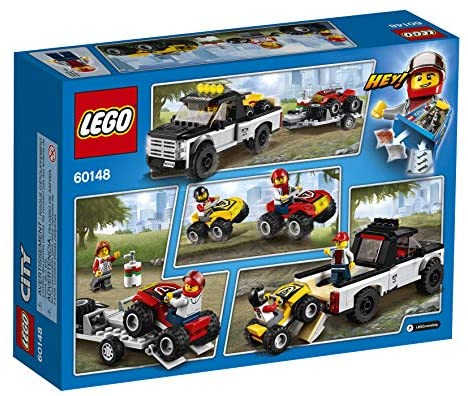 51Cbp4eheCL. AC  - LEGO City ATV Race Team 60148 Building Kit with Toy Truck and Race Car Toys (239 Pieces) (Discontinued by Manufacturer)