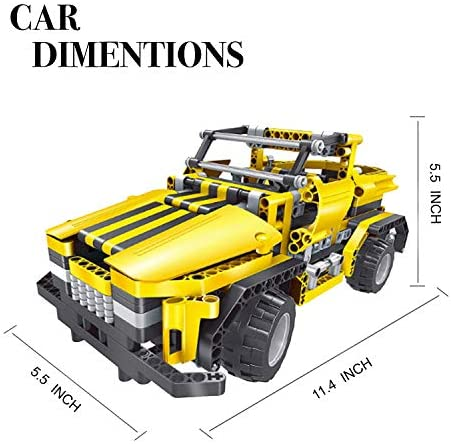 51D  e05H L. AC  - STEM Toys Remote Control Building Sets for Boys 8-12 | 426 Pcs RC engineering Kit Builds Off Road Car or RC Racer (2in1) STEM Building Toy Set for Kids - Ages 6 7 8 9 10 11 12 Years Old, Boy Toys Gift