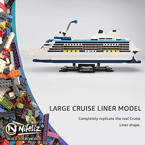 51DA5xkhUuL. AC  - Nifeliz Cruise Liner Model, Toy Boat Building Blocks Kits and Engineering Toy, Construction Set to Build, Model Set and Assembly Toy for Teens(2428 Pcs)