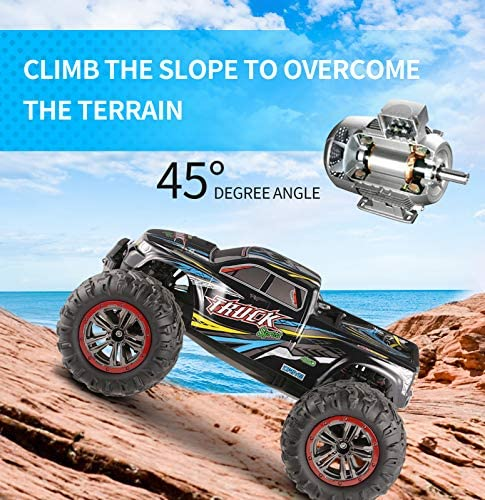 51DCE0+lBPL. AC  - Hosim Large Size 1:10 Scale High Speed 46km/h 4WD 2.4Ghz Remote Control Truck 9125,Radio Controlled Off-Road RC Car Electronic Monster Truck R/C RTR Hobby Grade Cross-Country Car (Blue)