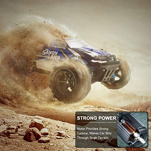 51E2KLdFB1L. AC  - VCANNY Remote Control Car, Terrain RC Cars, Electric Remote Control Off Road Monster Truck, 1: 18 Scale 2.4Ghz Radio 4WD Fast 30+ mph RC Car, with 2 Rechargeable Batteries