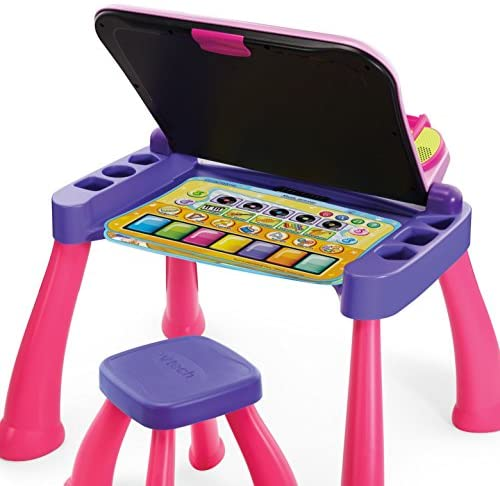 51EFvPUS8PL. AC  - VTech Touch and Learn Activity Desk Deluxe, Pink