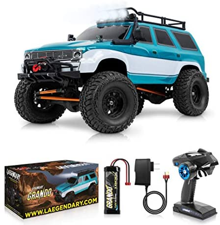 51EJKebPh1L. AC  - 1:10 Scale Large RC Rock Crawler - 4WD Off Road RC Cars - Remote Control Car 4x4 Electric Truck - IPX5 Waterproof Trucks for Adults - RTR with 5Ch Remote, Battery and Charger