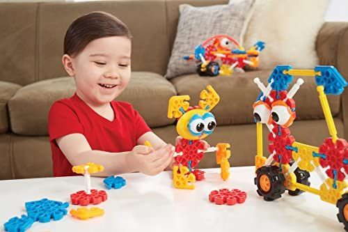 51EfzBrHngL. AC  - KID K'NEX – Oodles of Pals Building Set – 116 Pieces – Ages 3 and Up Preschool Educational Toy (Amazon Exclusive)