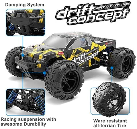 51Er2ic20dL. AC  - SZJJX RC Cars 40+ KM/H High Speed Remote Control Car 4WD RC Monster Truck for Adults, All Terrain Off Road Toy Truck with Extra Shell 2 Batteries, 40+ Min Play Car Gifts for Kids